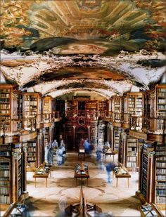 I Wanna Go Abbey Library St Gallen Switzerland Image By Photographer Candida Hofer From Her Book Libraries