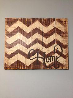 "Chevron ""Home"" Sign"