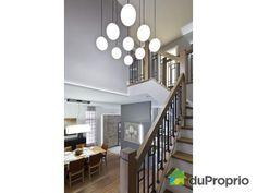 Maison neuve à vendre Candiac, 21, rue de Douvaine, immobilier Québec   DuProprio   614009 Rue, Stairs, Table, Furniture, Home Decor, Ideas, Real Estate, Stairway, Decoration Home
