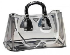 Chic Transparent HandBag from Prada is a Showstopper! Elite Choice and other apparel, accessories and trends. Browse and shop 8 related looks. Prada Purses, Prada Handbags, Prada Bag, Handbags Michael Kors, Clear Plastic Bags, Clear Bags, Today's Fashion Trends, Clear Handbags, Transparent Bag