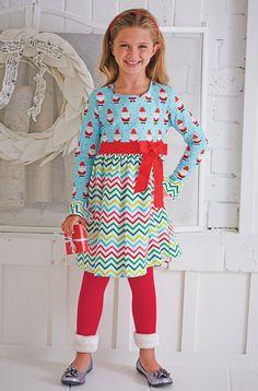 From CWDkids: Santa Chevron Dress