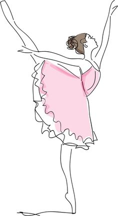 Desenho de Bailarina: Para Colorir, Imprimir e Moldes Ballet Drawings, Dancing Drawings, Pencil Art Drawings, Art Drawings Sketches, Easy Drawings, Ballerina Painting, Ballerina Art, Balerina Drawing, Ballerina Sketch