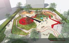Aire_de_jeux_Espace_Libre26 « Landscape Architecture Works   Landezine A Toddlers Playground by Espace Libre Landscape Architecture: Espace Libre Location: Alfortville Design Year: 2013 Year of Construction: 2014 Area: 2500 m² Budget: 400 000 euros