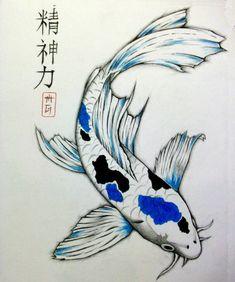 Koi Fish Drawing, Fish Drawings, Animal Drawings, Koi Tattoo Design, Koi Painting, Silk Painting, Japan Painting, Butterfly Painting, Watercolor Painting