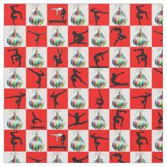 JOLLY GYMNASTICS CHRISTMAS DESIGN FABRIC http://www.zazzle.com/collections/gymnastics_christmas_fabric-119364111341326798?rf=238246180177746410 Gymnastics #Gymnast #IloveGymnastics #Gymnastchristmasfabric #WomensGymnastics #Gymnastfabric