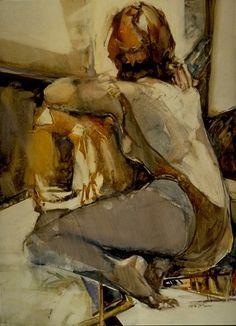 "Carla O'Connor (American watercolor painter) ""Dancer-2"""