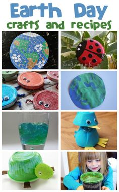 Lots of Earth Day Crafts & Recipes Earth Day Projects, Earth Day Crafts, Projects For Kids, Crafts For Kids, Earth Science Activities, Spring Activities, Craft Activities, Spring Crafts, Holiday Crafts