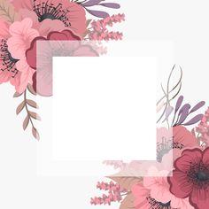 Quadro floral com flor colorida. Framed Wallpaper, Flower Background Wallpaper, Cute Wallpaper Backgrounds, Flower Backgrounds, Cute Wallpapers, Flower Frame, Flower Art, Flower Graphic Design, Motif Art Deco