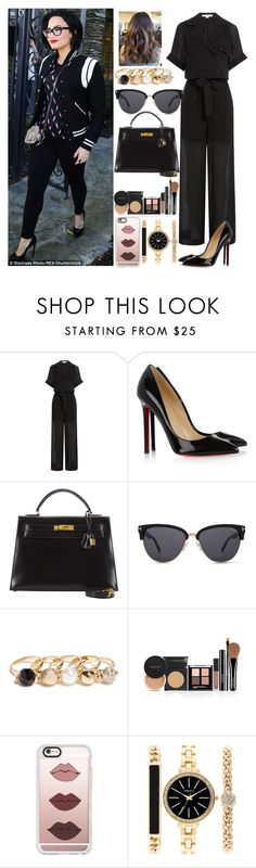 """Day in LA with Demi"" by zandramalik ❤ liked on Polyvore featuring Alexander Wang, Christian Louboutin, Hermès, Tom Ford, GUESS, Casetify and Style & Co."