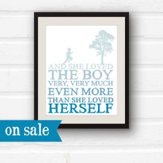 Clearance Sale  Blue Nursery Decor  The Giving by PaperFinchDesign, $8.00