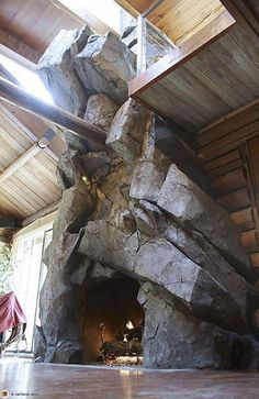 Excellent Options For Diy Fireplace Designs Diy Ideas - Excellent Options For Diy Fireplace Designs Diana Phoneix Stonetree Studios Artificial Rock Fireplace Under Skylights Within Rustic Beamed Home Rock Fireplaces Rustic Fireplaces Home Fireplace F Rock Fireplaces, Rustic Fireplaces, Home Fireplace, Modern Fireplace, Fireplace Design, Fireplace Pictures, Fireplace Stone, Fireplace Outdoor, Fireplace Hearth