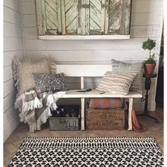 """We shot a lot of rugs and pillows today for my new Magnolia Home rug line with @loloirugs . Here's a fun fact about the line: I named a few of the collections after my kiddos. This rug is part of the """"Emmie Kay"""" collection and the throws are from the """"Duke"""" collection. At the end of the day, my chil"""