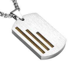 REXAR - pánsky platničkový prívesok z chirurgickej ocele s retiazkou (60cm) Lego, Wallet, Personalized Items, Luxury, Legos, Purses, Diy Wallet, Purse
