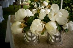 magnolias. So southern. Reminds me of my mother and grandmother. All time favorite flower and tree.