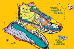 Sneaker Dreams   Trainers Characters Narrative Illustration Posters   Award-winning Illustration for Advertising   D&AD