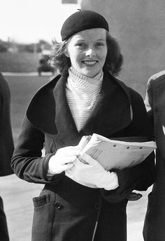 Katharine Hepburn on the set of State of the Union (1948)