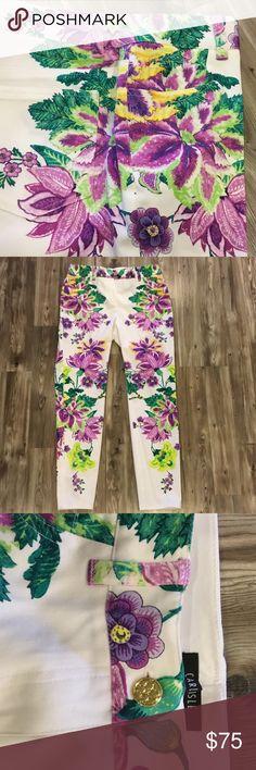 Carlisle size 4 multicolor floral pants Carlisle size 4 floral pants. Perfect for summer! Waist is about 15.5 across lying flat Carlisle Pants