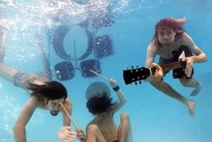 3. Nirvana underwater- this is a bit more set-up, with the instruments etc. We could do it this way as well, or try both. Do we have instruments that can get wet?