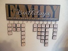 Custom/Personalized Family Birthday Plaque Sign.  Please read entire listing before ordering. on Etsy, $35.00
