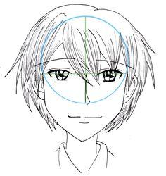 Tutoriel Manga: Le visage de face d'un homme style shôjô   Your Title