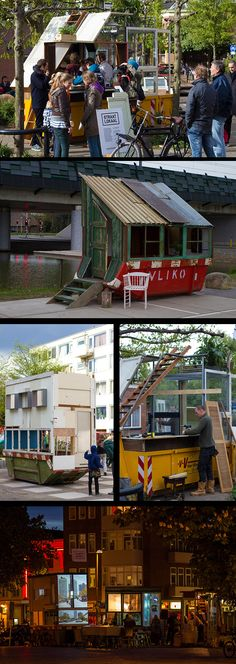 Dumpster bar and coffee shops