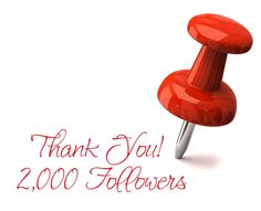 THANK YOU to my 2,000 followers!