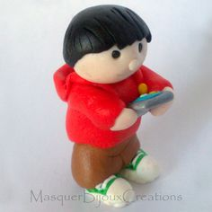 PUPAZZETTO TABLET - Puppet - Polymer clay