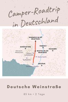 Roadtrip Deutsche Weinstraße - Auf dem Weg kommst du an unzähligen Weinbergen und historischen Sehenswürdigkeiten vorbei, die Verköstigungen und einmalige Fotomotive bieten. Kaiserslautern, Camper, Roadtrip, Bullet Journal, Mannheim, Karlsruhe, Photo Mural, Infographic, Germany