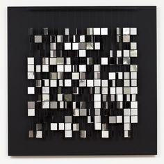 Julio le Parc, mobile argent sur noir, 1960 / 1981