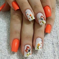 Get floral nail art and you're set to go. The patterns of floral nails art have gotten so intricate that it almost appears effortless. There are an assortment of things that could cause your nails to nice. Cute Spring Nails, Cute Nails, Pretty Nails, Nail Designs Spring, Nail Art Designs, Nails Design, Hair And Nails, My Nails, Floral Nail Art
