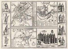 Vogelschauansichten von York, Lancaster, Shrewybury und Ansicht von Schloß Richmond bei ... Kupferstich v. Braun & Hogenberg, 1617.     600.00 Euro