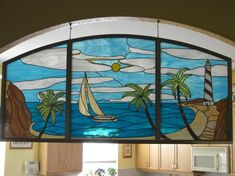 Beachscape - Delphi Stained Glass