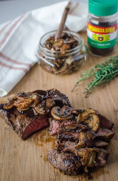 Flat Iron Steak with Maple Bourbon Espresso Sauce is a simple yet elegant beef dish with a velvety bourbon-spiked sauce you will want to lick off your plate.