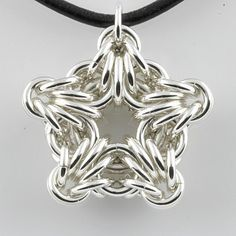 Chainmaille star pendant