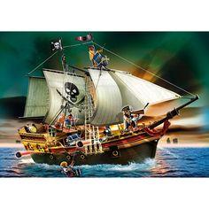 """Playmobil Piraci Potężny żaglowiec piracki """"Czarny Kruk"""", 5135, klocki"""