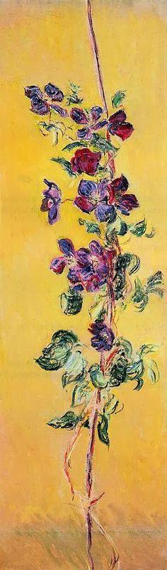 Claude Monet 1883 Cobeas oil on canvas 118.4 x 36.8 cm Private Collection