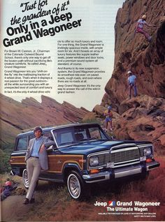 Jeep Grand Wagoneer - Just For The Grandeur Of It.    Only in a Jeep Grand Wagoneer