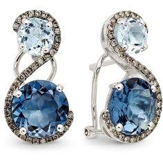 Le Vian Blue Topaz earrings
