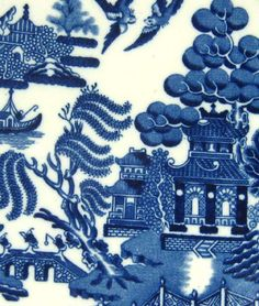 Spode blue and white Willow pattern -my Grandma had this pattern, now I have it!
