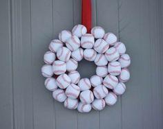 Baseball/softball wreath