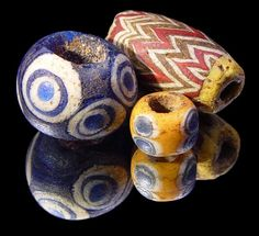 ancient eye beads~