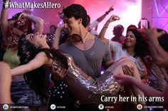 Because a hero will always want his love to feel like a princess! #Dimpy loving #Bablu's #Heropanti!   Share this image if you treat your love like this.