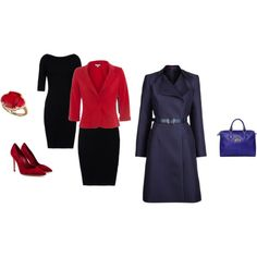 """Deep Winter - classic red-black-darknavy inspiration"" by adriana-cizikova on Polyvore"