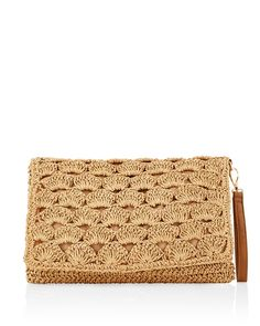 Straw Clutch - Shop Work Kit Business Attire for Women Sale - Business Attire and Professional Clothing for Women - White House Black Market Knitting Patterns, Crochet Patterns, Mode Blog, Macrame Bag, Bead Crochet, Knitted Bags, Crochet Fashion, Clutch Purse, Black House