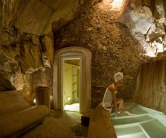 Hammam in a natural cave in Italy