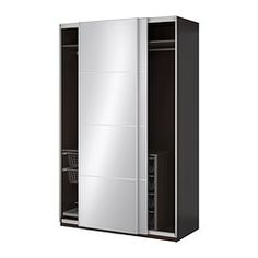 IKEA offers everything from living room furniture to mattresses and bedroom furniture so that you can design your life at home. Check out our furniture and home furnishings! Ikea Wardrobe, Mirrored Wardrobe, Ikea Pax, Pax Planer, Sliding Door Window Treatments, Sliding Doors, Tall Cabinet Storage, Locker Storage, Armoire Ikea