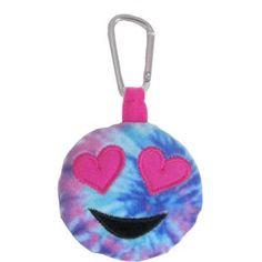 Emoji Bean Bag, Tie Dye Heart Eye, Multicolor