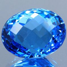 Natural Gemstone SwissBlue Topaz Oval 12.36 Ct.Faceted