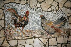 Mosaic Animals, Mosaic Birds, Pebble Garden, Mosaic Garden, Mosaic Artwork, Bird Artwork, Mosaic Crafts, Mosaic Projects, Mosaic Madness
