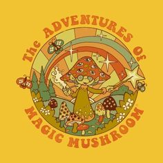 Magic Mushroom Art Print by Steven Rhodes - X-Small Photo Wall Collage, Collage Art, Hippie Wallpaper, Plakat Design, Psy Art, Mushroom Art, Psychedelic Art, Mellow Yellow, Aesthetic Art